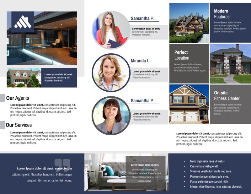 Our Real Estate Team Tri-Fold Brochure Template Preview 3