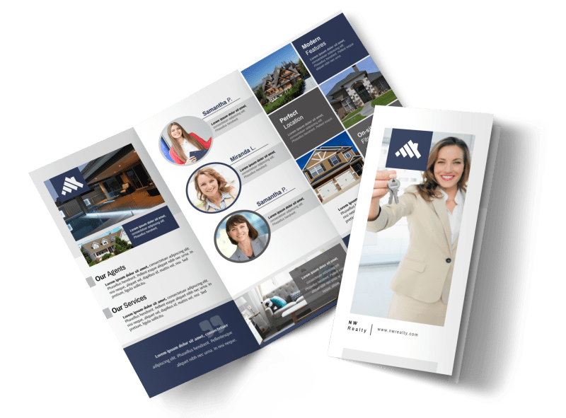 Our Real Estate Team Tri-Fold Brochure Template Preview 1
