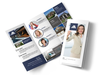 Our Real Estate Team Tri-Fold Brochure Template preview
