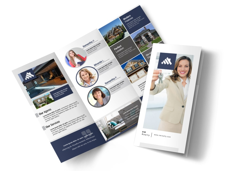 our real estate team tri fold brochure template mycreativeshop