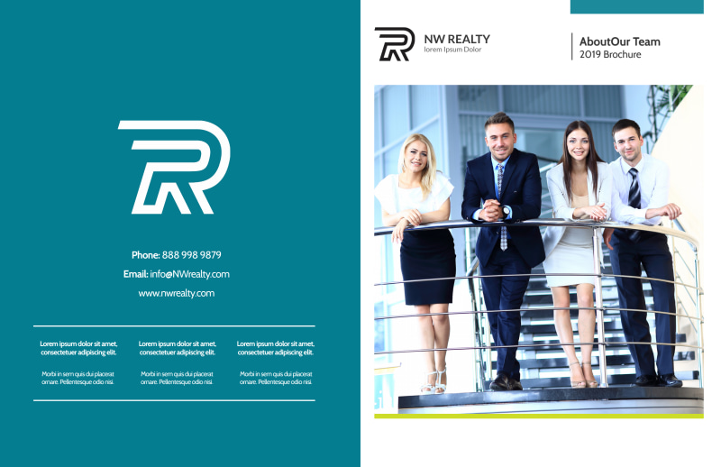 Professional Real Estate Team Bi-Fold Brochure Template Preview 2
