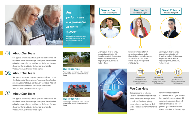 Professional Real Estate Team Bi-Fold Brochure Template Preview 3