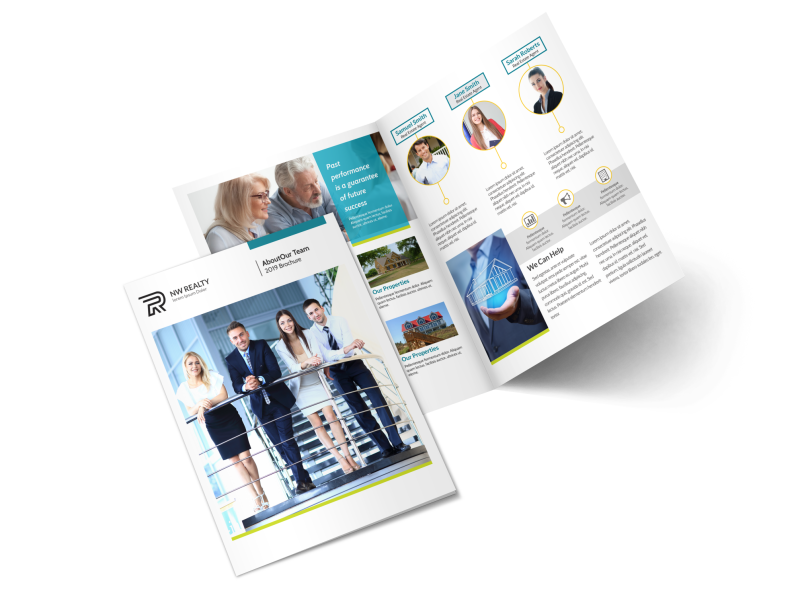 Professional Real Estate Team Bi-Fold Brochure Template Preview 1