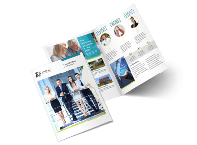 Professional Real Estate Team Bi-Fold Brochure Template