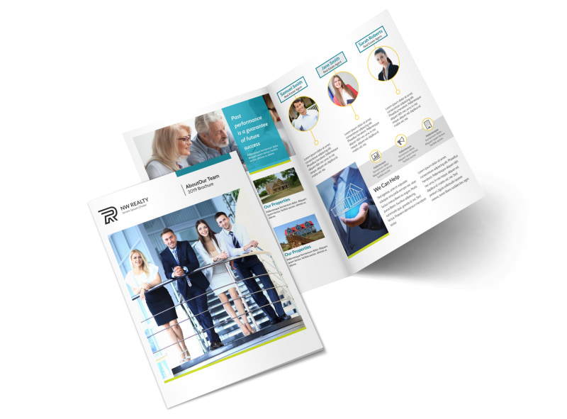 professional real estate team bi fold brochure template mycreativeshop