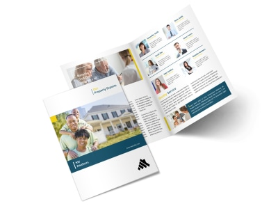 Real Estate Agency Team Bi-Fold Brochure Template preview