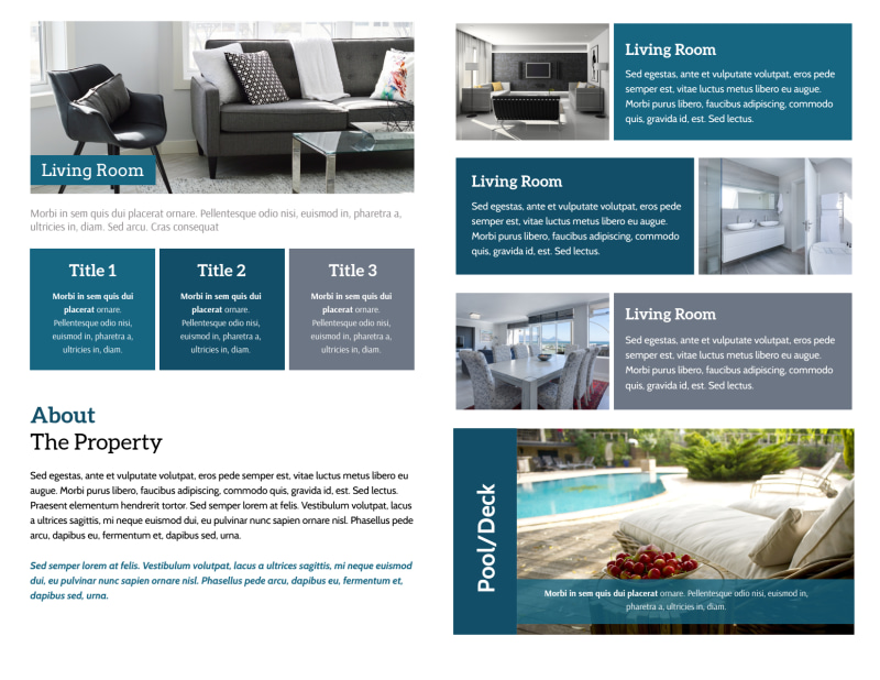 Blue Open House Bi-Fold Brochure Template Preview 3