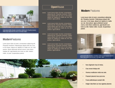 Awesome Open House Tri-Fold Brochure Template Preview 2