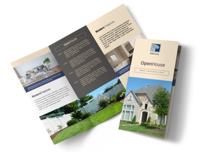 Awesome Open House Tri-Fold Brochure Template preview