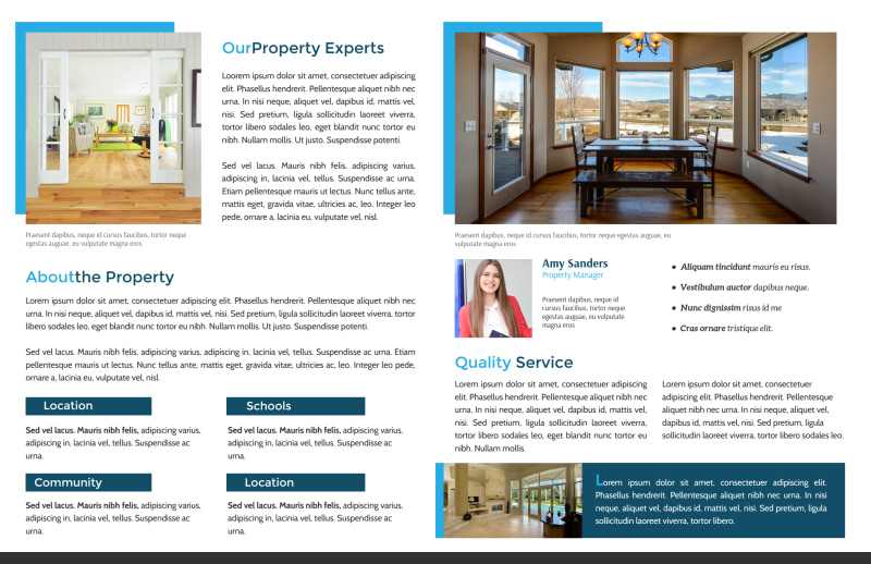 Professional Open House Bi-Fold Brochure Template Preview 3