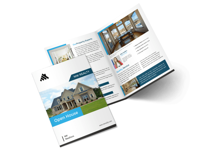 Professional Open House Bi-Fold Brochure Template Preview 1