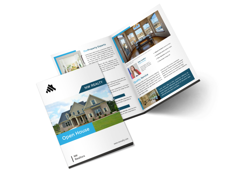 Professional Open House Bi-Fold Brochure Template