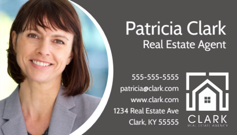 Dark Real Estate Agent Business Card Template Preview 2