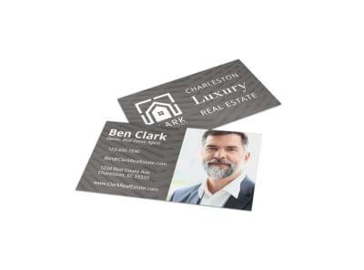 Simple Real Estate Business Card Template preview