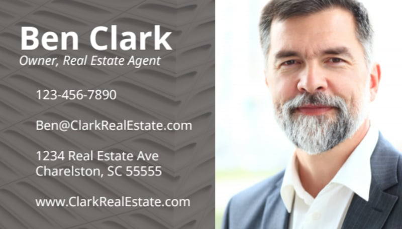 Simple Real Estate Business Card Template Preview 2