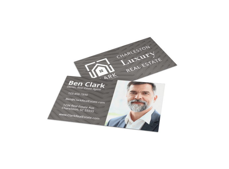 Simple Real Estate Business Card Template Preview 1