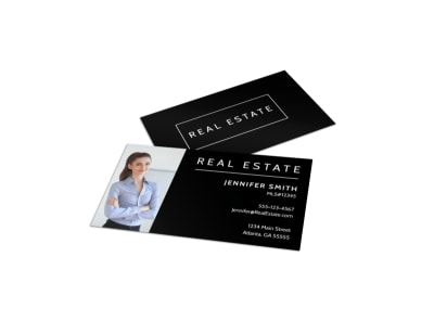 Black Real Estate Business Card Template preview