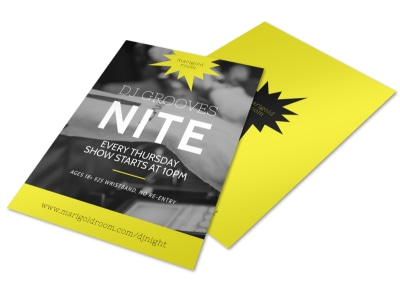 DJ Nite Flyer Template preview