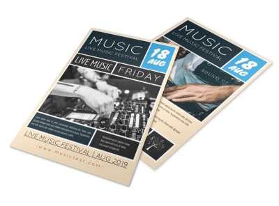 Live Music Festival Flyer Template preview