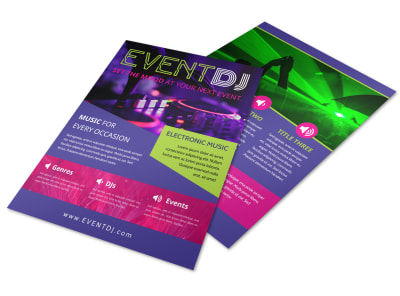 Event DJ Flyer Template preview
