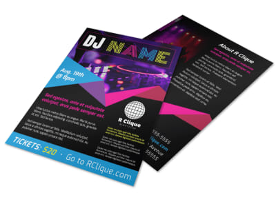 Colorful DJ Flyer Template preview