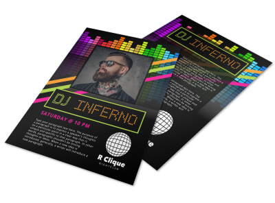 DJ Inferno Flyer Template preview