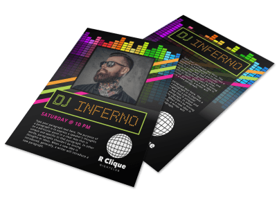 DJ Flyer Templates Template Preview