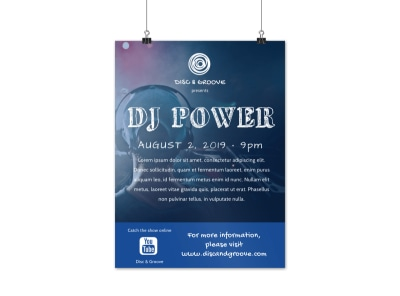 DJ Power Poster Template preview
