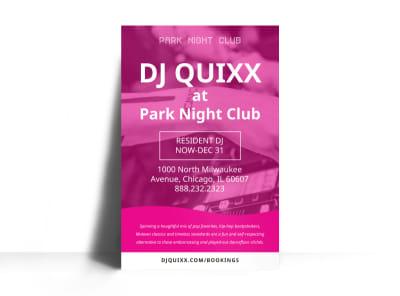 DJ Pink Poster Template