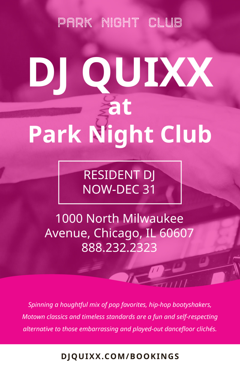 DJ Pink Poster Template Preview 2