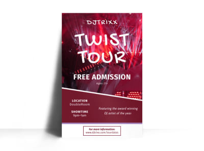 DJ Tour Poster Template preview