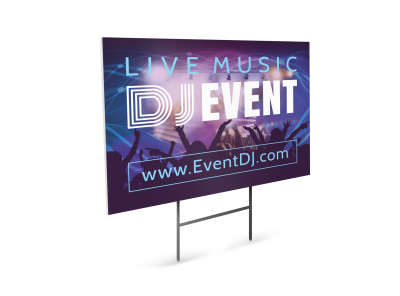 DJ Event Yard Sign Template preview