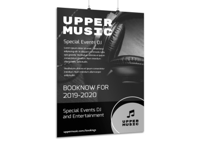 DJ Music Poster Template