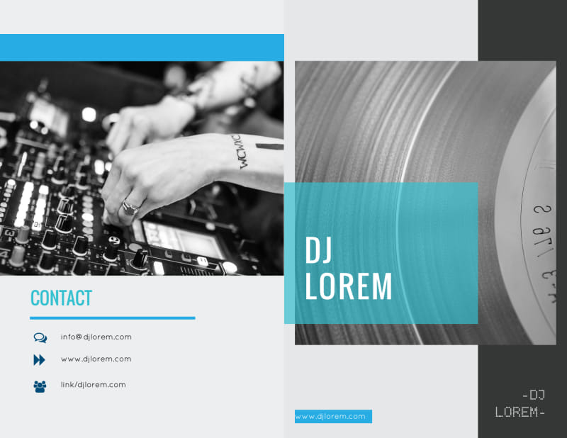 Beautiful DJ Bi-Fold Brochure Template Preview 2