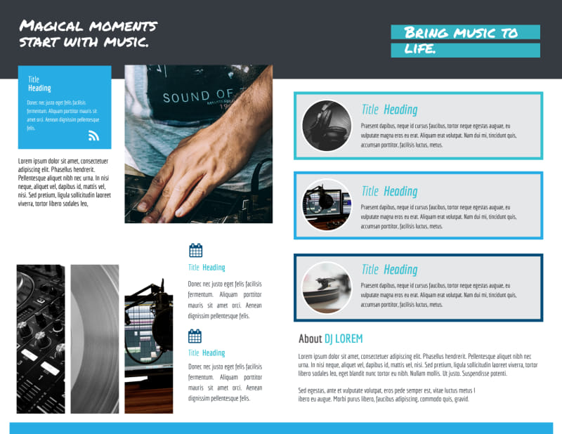 Beautiful DJ Bi-Fold Brochure Template Preview 3