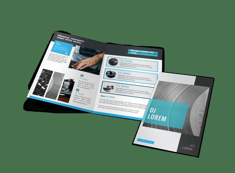 Beautiful DJ Bi-Fold Brochure Template Preview 1