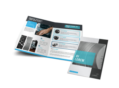 Beautiful DJ Bi-Fold Brochure Template preview