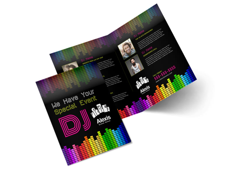 DJ Event Bi-Fold Brochure Template
