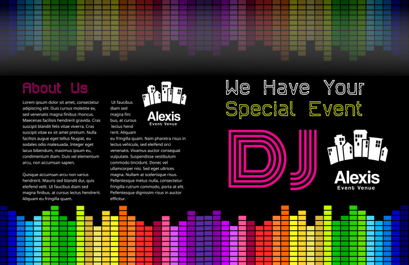 DJ Event Bi-Fold Brochure Template Preview 2