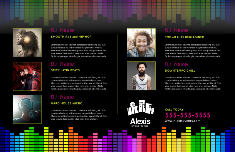 DJ Event Bi-Fold Brochure Template Preview 3