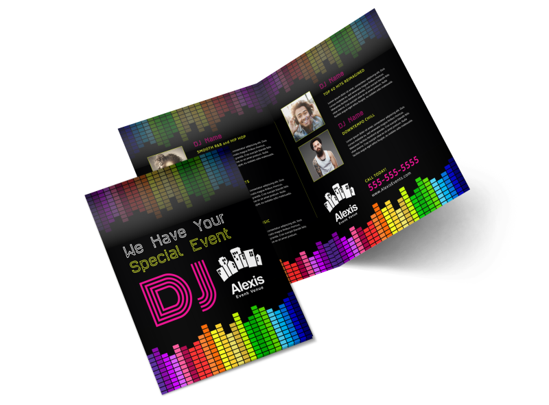 DJ Event Bi-Fold Brochure Template Preview 1