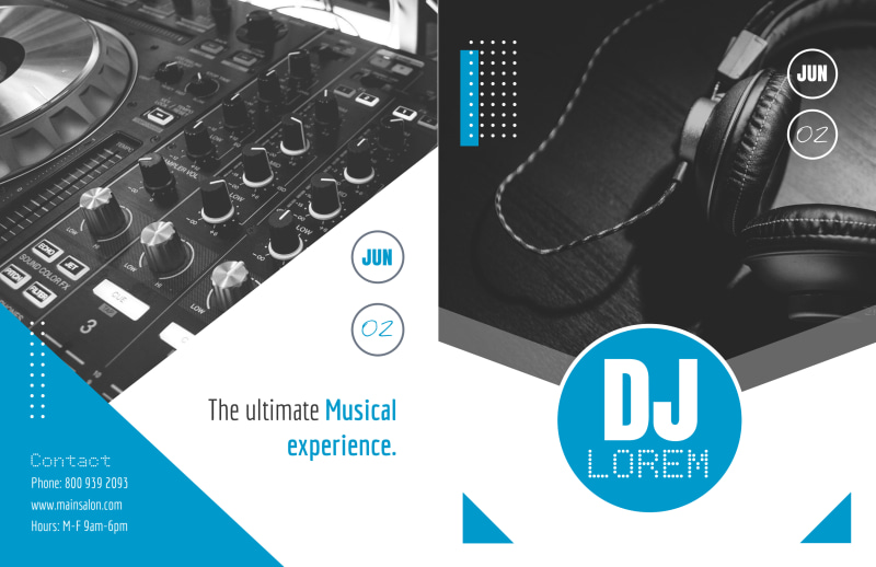 Classic DJ Bi-Fold Brochure Template Preview 2