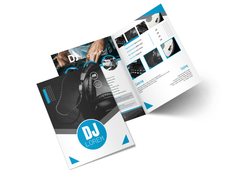 Classic DJ Bi-Fold Brochure Template Preview 1