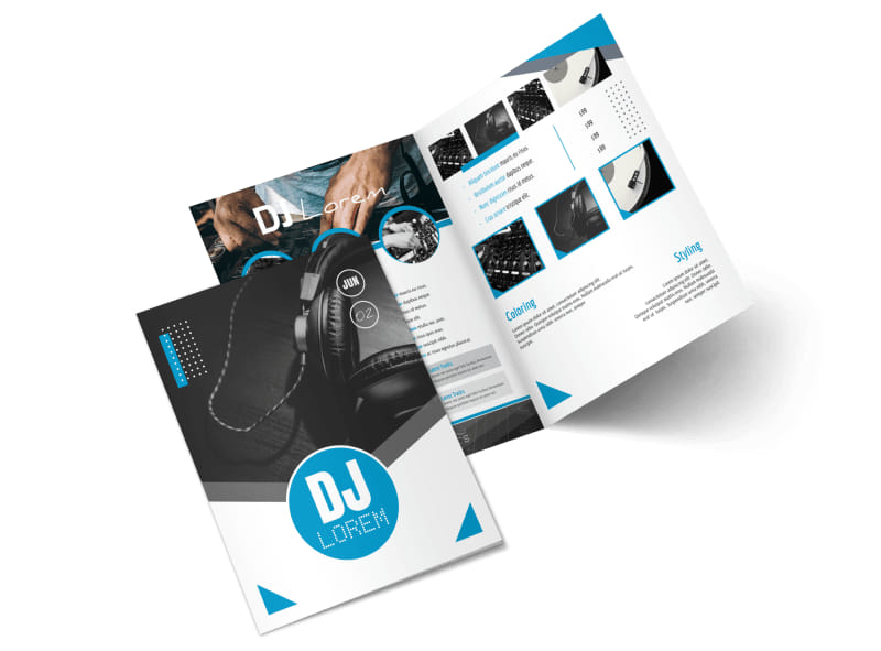 Classic DJ Bi-Fold Brochure Template Preview 4