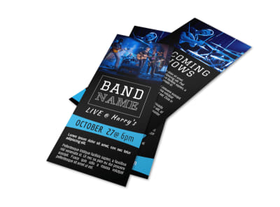 Band Upcoming Shows Flyer Template preview