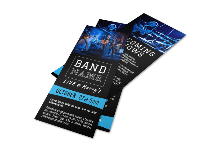 Band Upcoming Shows Flyer Template Preview 1