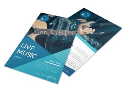 Simple Band Music Flyer Template preview