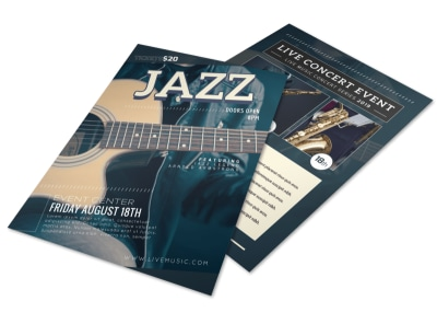 Awesome Jazz Band Flyer Template preview