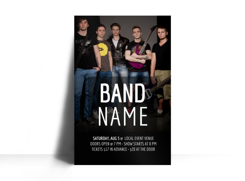 Band Name Poster Template