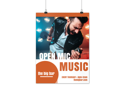 Open Mic Poster Template preview